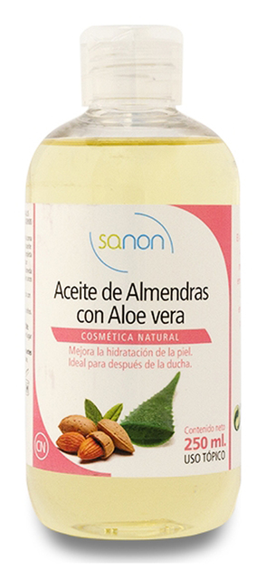 SANON Almond Oil with Aloe Vera 250 ml Image