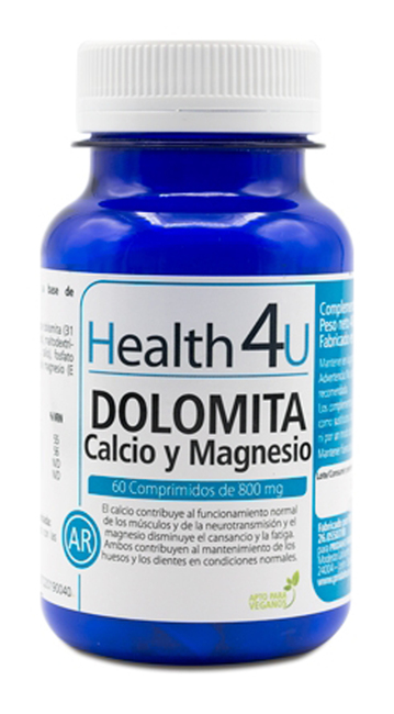 H4U Calcium and Magnesium Dolomite 80 g 60 tablets Image