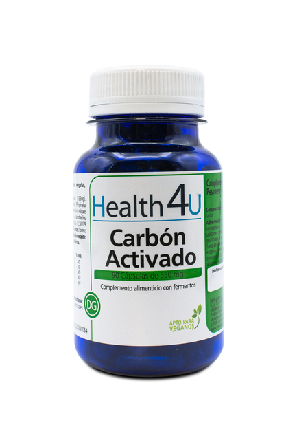 H4U Activated Carbon 550 mg 90 capsules Image